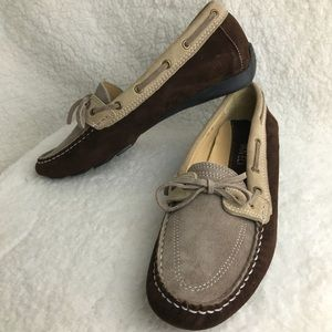 New Vanela two tone suede loafers size 7 1/2 M